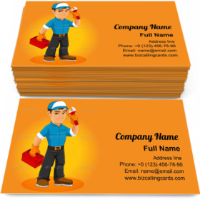 Handyman Man Mascot Business Card Template