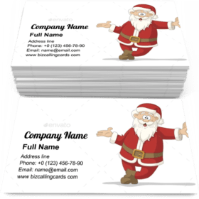 Happy Santa Claus Business Card Template