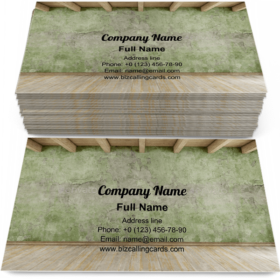 Hardwood floor and roof beams Business Card Template