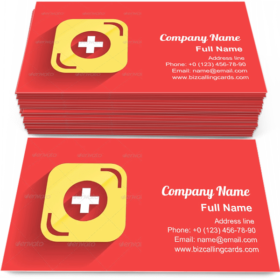 Health Help Icon Business Card Template
