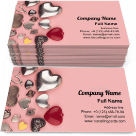 Heart shaped jewelry Business Card Template