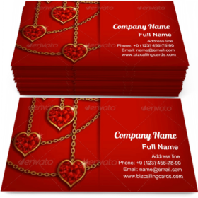 Hearts on Chains Business Card Template