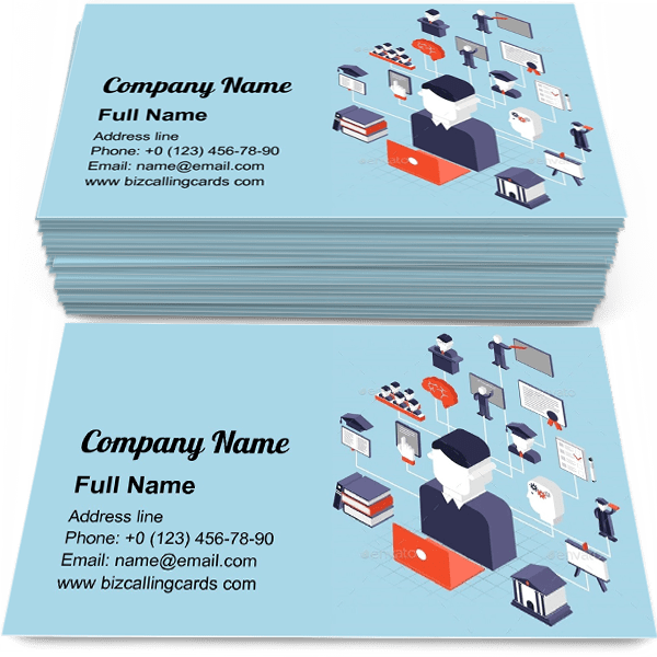 Sample of Higher Education Isometric calling card design for advertisements marketing ideas and promote studying branding identity