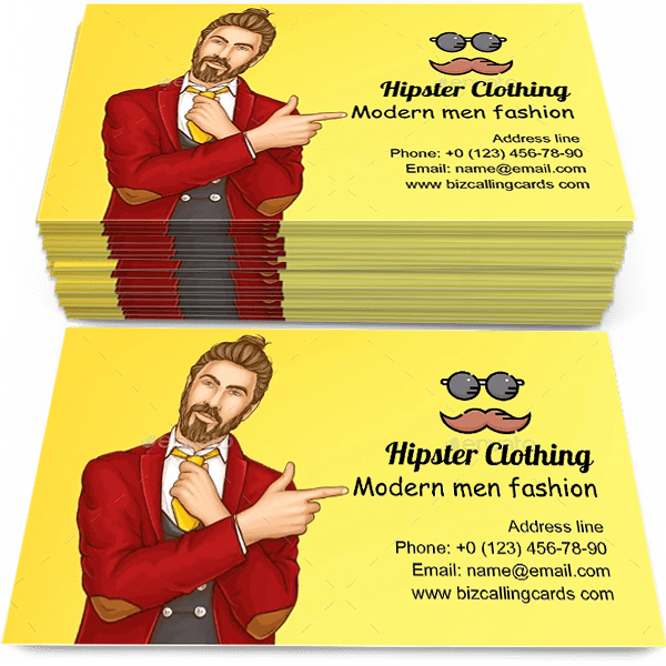 Hipster Clothing Shop Business Card Template
