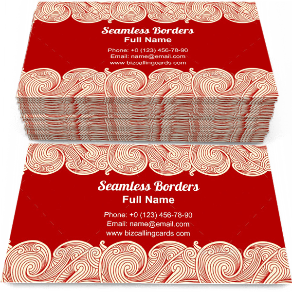Sample of Horizontal seamless borders calling card design for advertisements marketing ideas and promote decorative style branding identity