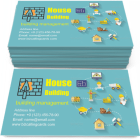 House building stages Business Card Template