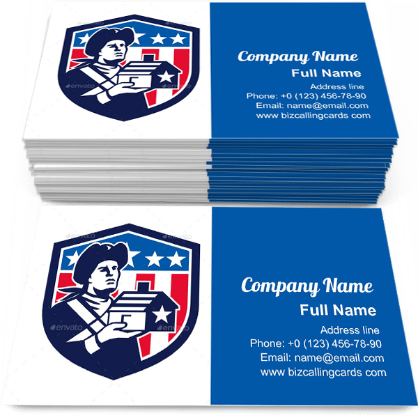 Sample of House Flag Crest calling card design for advertisements marketing ideas and promote American Investment branding identity