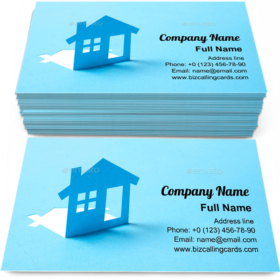House in paper Business Card Template