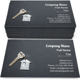 House key on black Business Card Template