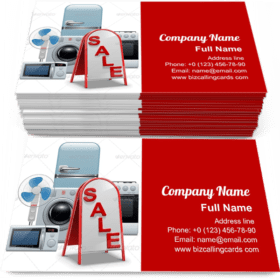 Household Appliances Sale Business Card Template