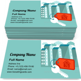 Houses keys with label Business Card Template