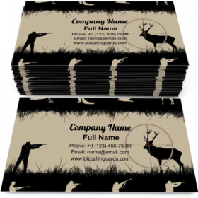 Hunters and Animals Business Card Template