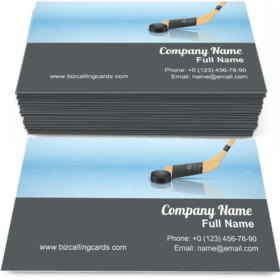 Ice Skating Hockey Business Card Template