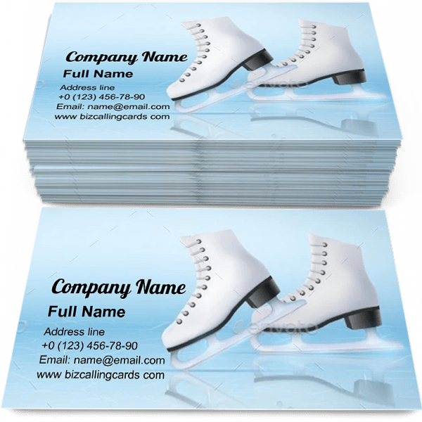 Ice Skating Rink Business Card Template