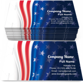 Independence Day Business Card Template