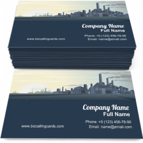Industrial Cityscape Business Card Template