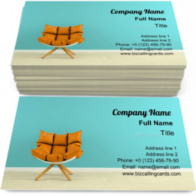 Interior with armchair Business Card Template