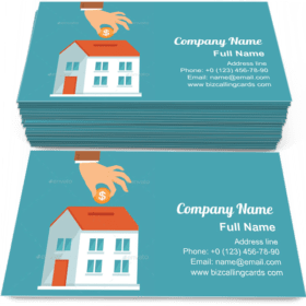 Investment in flat style Business Card Template