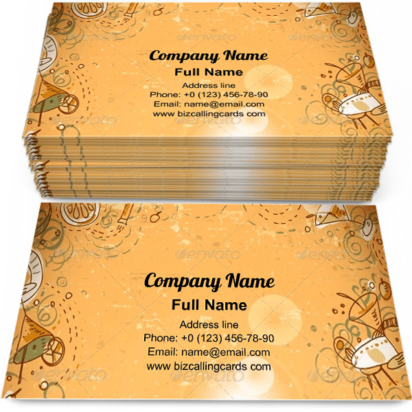 Sample of Invitation Cocktail Party calling card design for advertisements marketing ideas and promote alcohol retail branding identity