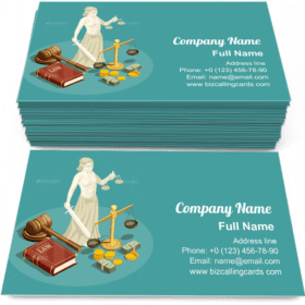 Isometric Law Design Business Card Template