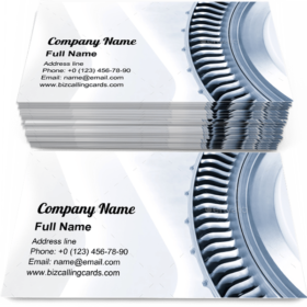 Jet engine blades Business Card Template