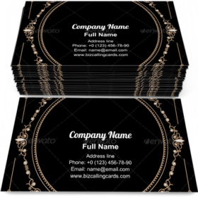 Jewelry Gold Frame Business Card Template
