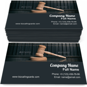 Judge gavel and law books Business Card Template