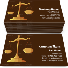 Justice Scale Business Card Template