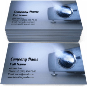 LCD video projector Business Card Template