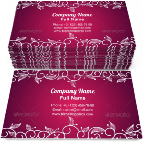 Lace Floral Ornamental Business Card Template