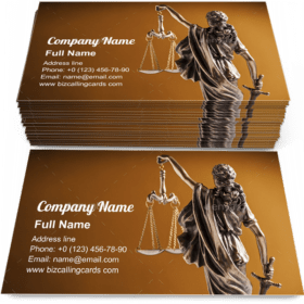 Lady Justice holding up the scales Business Card Template