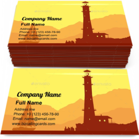 Landscape with Lighthouse Business Card Template