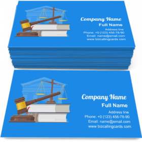 Law and justice concept Business Card Template