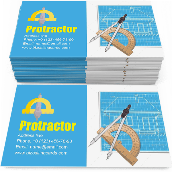 Layout with Protractor Business Card Template