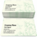 Leaves and flowers Business Card Template