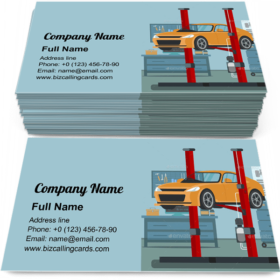 Lifted Up Service Station Business Card Template