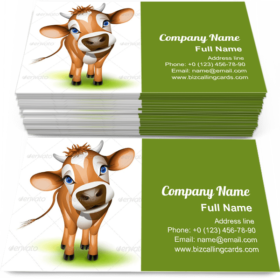 Little jersey cow Business Card Template