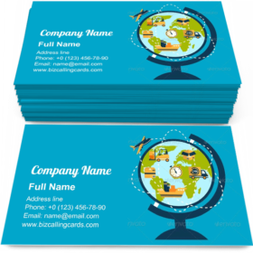 Logistic Network Business Card Template