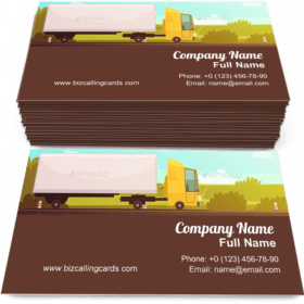 Logistics And Delivery Cartoon Business Card Template