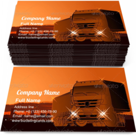 Logistics Theme Business Card Template
