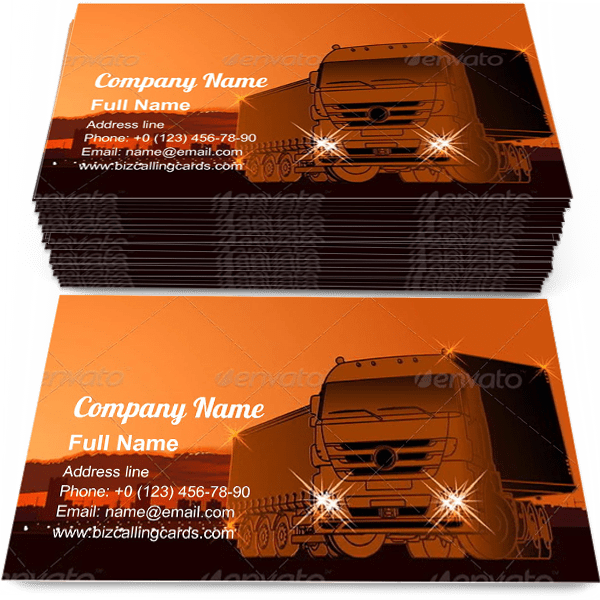 Sample of Logistics Theme business card design for advertisements marketing ideas and promote delivering branding identity