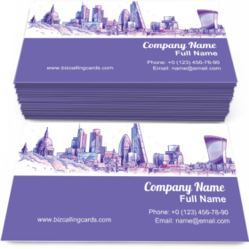 London Skyline Business Card Template