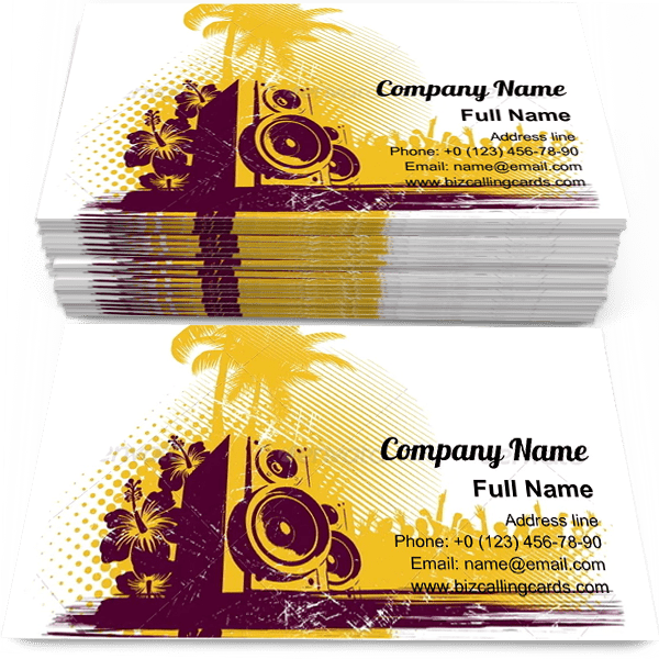 Sample of Loudspeakers in Tropics calling card design for advertisements marketing ideas and promote young culture branding identity