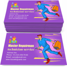 Male Master Repairman Runs Business Card Template