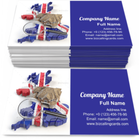 Map of UK Great Britain Business Card Template