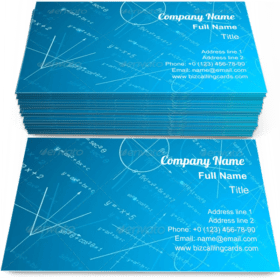 Mathematics Perspective Business Card Template