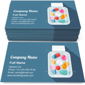 Medical Pills Bottle Business Card Template