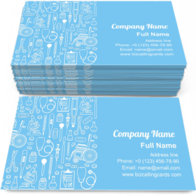 Medical Seamless Pattern Business Card Template