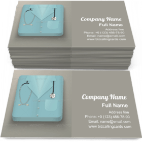 Medical Uniform Icon Business Card Template