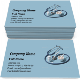 Medical equipment and drugs Business Card Template